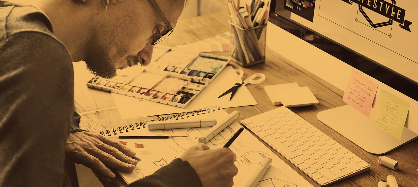 Illustration prestation Design et Prestations graphiques